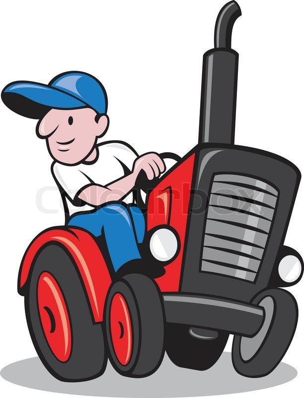 Illustration Of A Farmer Worker Stock Vector Colourbox