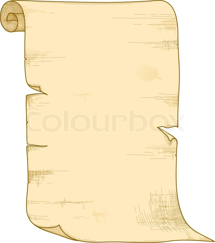 Vector old paper roll   Stock Vector   Colourbox  Old