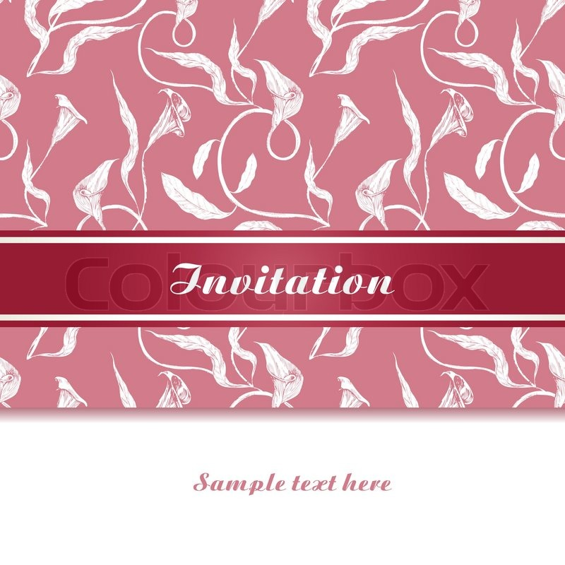 Vintage background invitation card luxury greeting card wedding vintage background invitation card luxury greeting card wedding beautiful card ornamental page cover floral brochure design stock vector colourbox stopboris Gallery