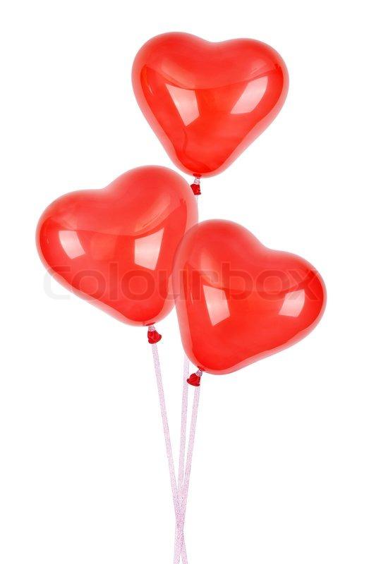 drei rote herz luftballons stockfoto colourbox. Black Bedroom Furniture Sets. Home Design Ideas