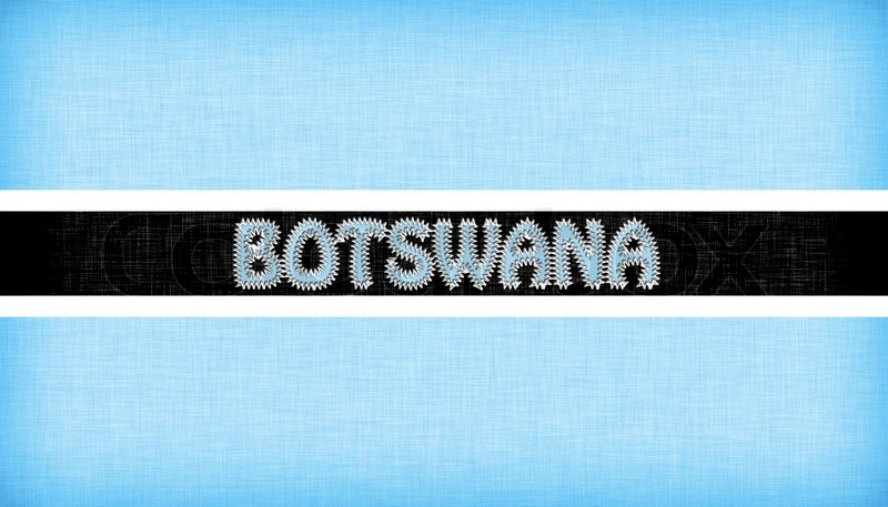 Flag of Botswana stitched with letters | Stock image | Colourbox