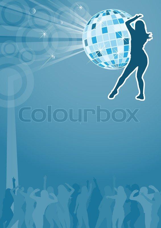 Nacht Party Flyer Vorlage | Vektorgrafik | Colourbox