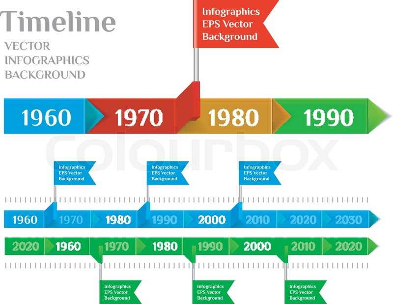 Timeline Web Element Template Vector Illustration On White - Timeline website template