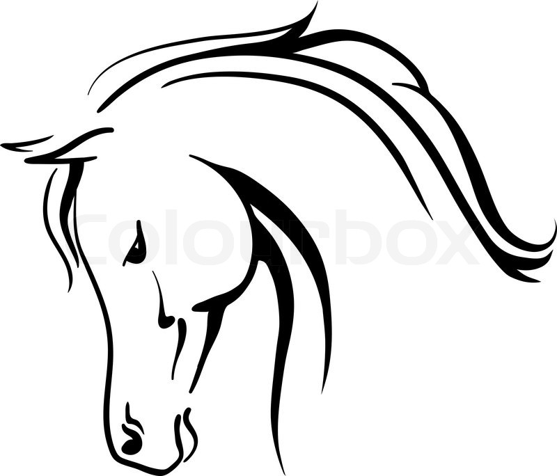 clip art arabian horse stylised head stock vector colourbox rh colourbox com horse head clipart black and white clipart horse head silhouette