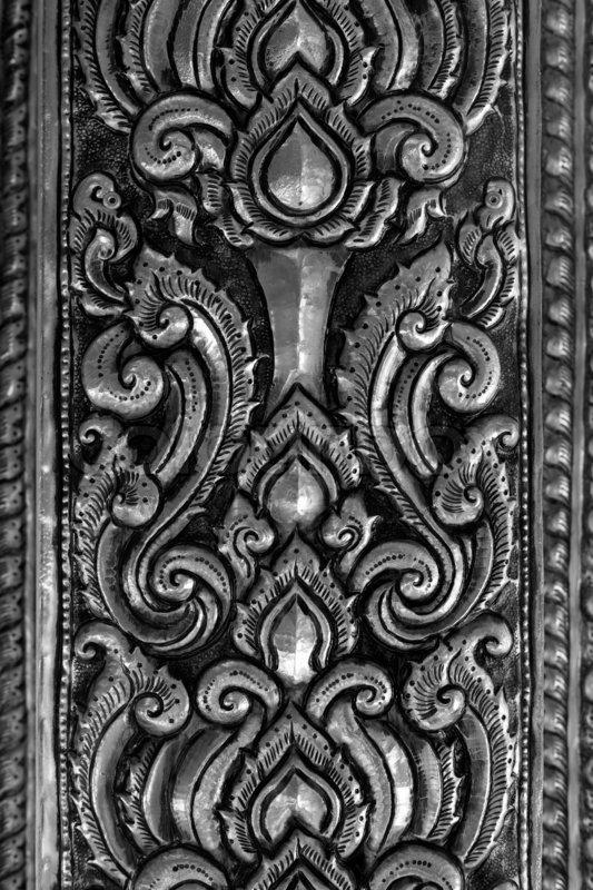 Oriental Silver Pattern Stock Photo Colourbox