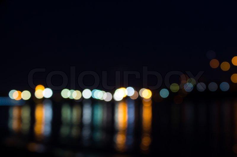 Circle light reflector by sea, stock photo