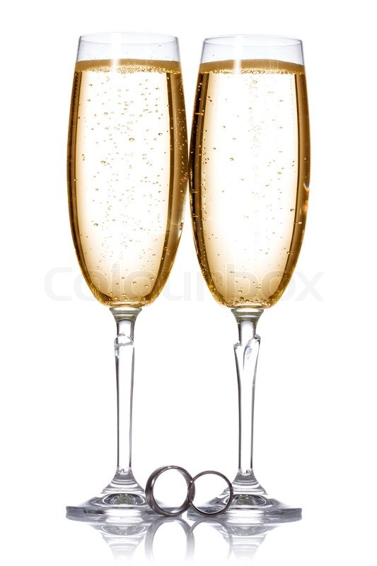 Champagne And Wedding Rings Stock Photo Colourbox