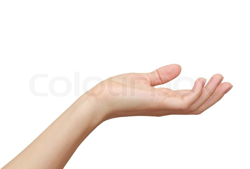 cf84036dab9cc Woman hand holding, showing something ... | Stock image | Colourbox