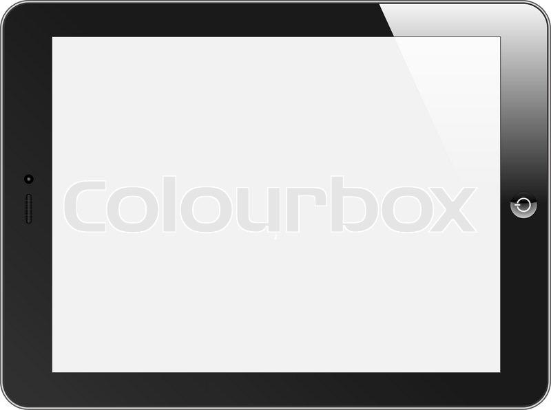 Realistische Tablet Pc Mit Leeren Bildschirm Horizontal