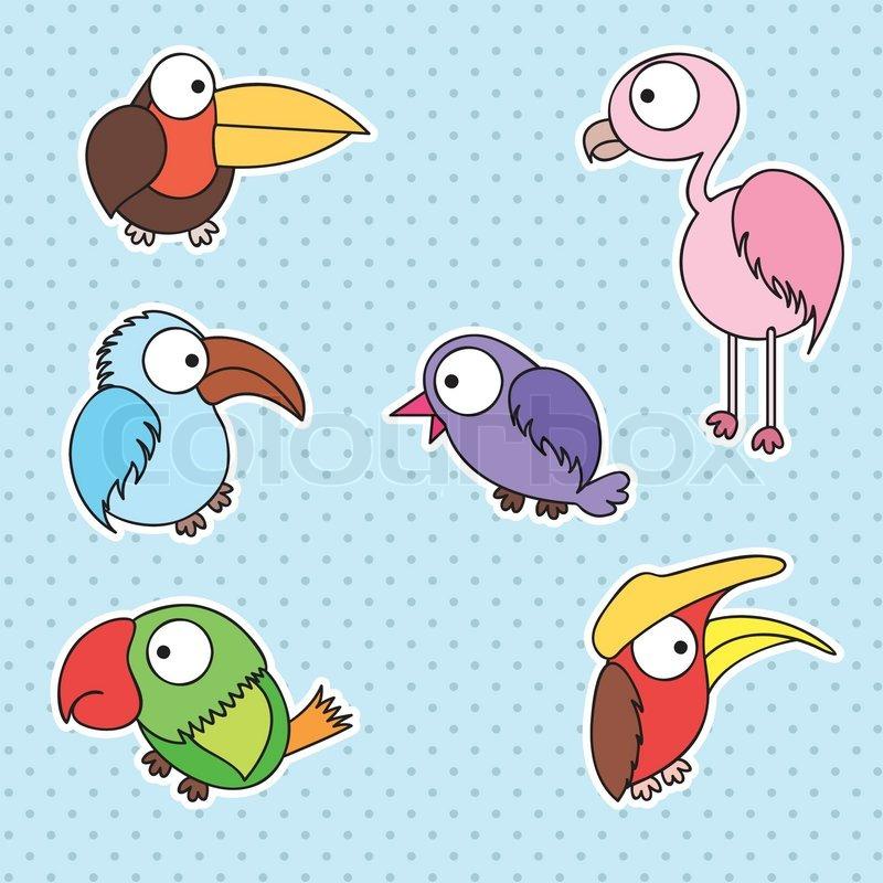 vogel zeichnung f r kid vector ist eps10 vektorgrafik colourbox. Black Bedroom Furniture Sets. Home Design Ideas