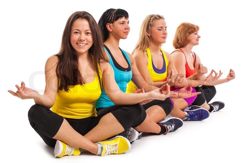 Group Of Women Enjoying Yoga
