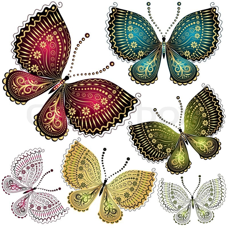 free vintage butterfly clipart - photo #38
