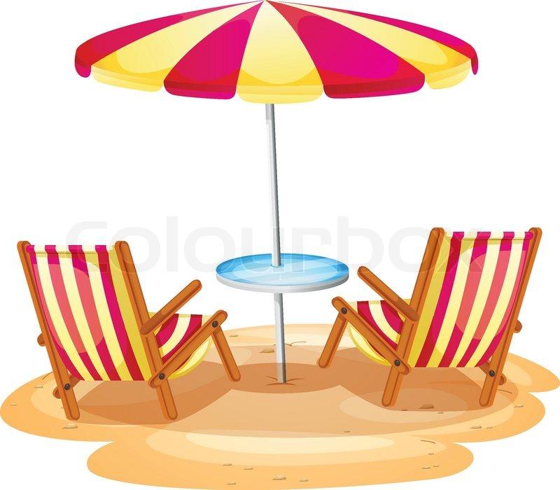 Beach chair Illustrations and Clipart 6641 Beach chair