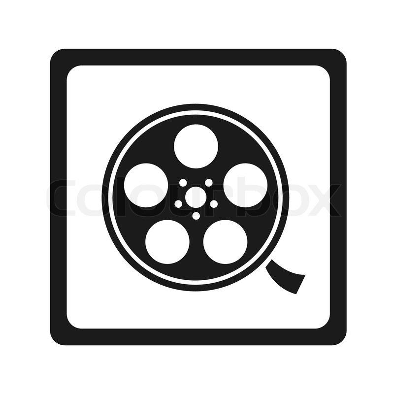 Film spool in black | Stock Vector | Colourbox