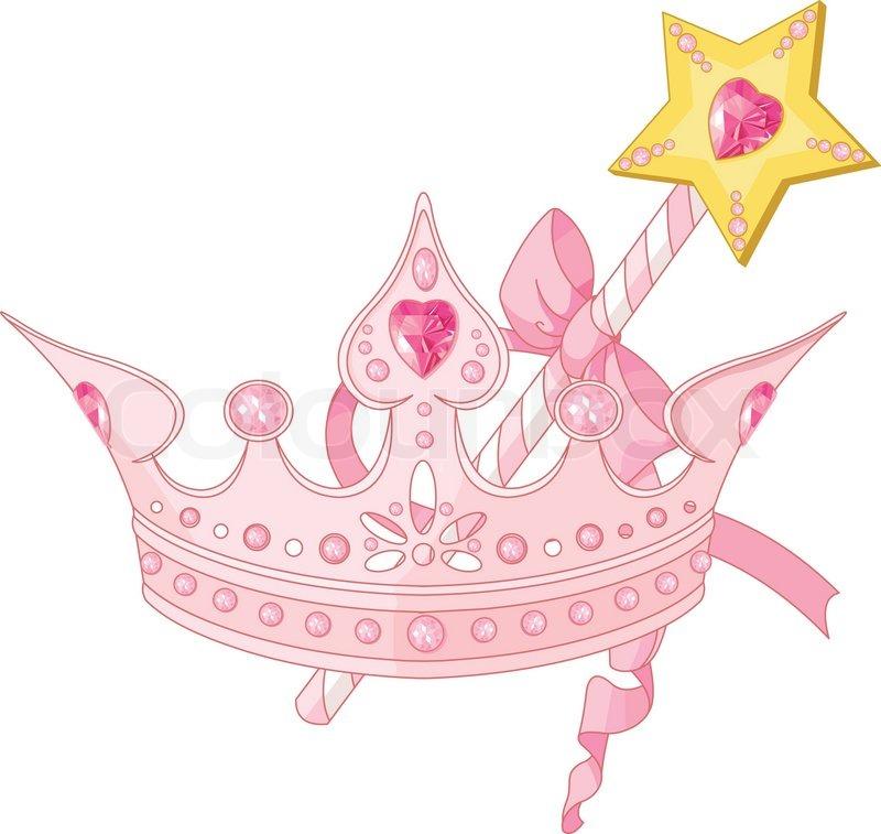 Prinzessin Krone Und Zauberstab Vektorgrafik Colourbox