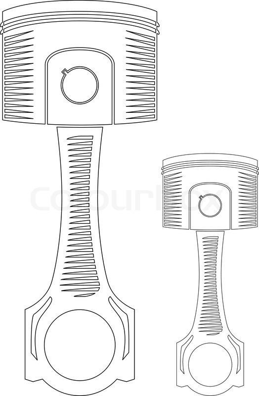 vector car piston