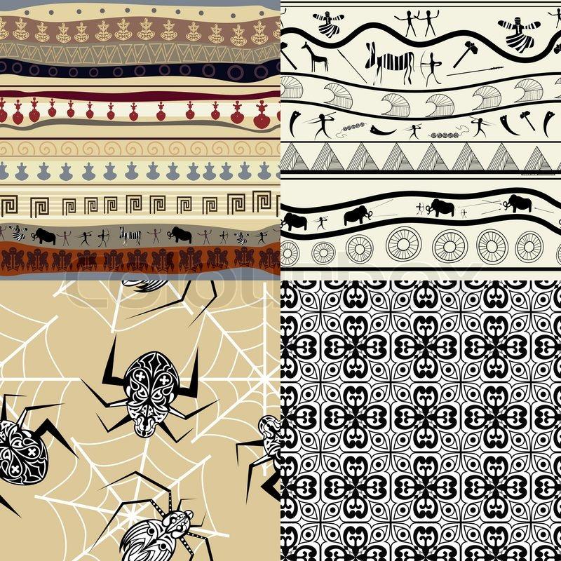 setzen eines muster tribal muster vektorgrafik colourbox. Black Bedroom Furniture Sets. Home Design Ideas