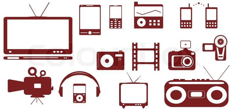 satz von satelliten audio video technischen. Black Bedroom Furniture Sets. Home Design Ideas