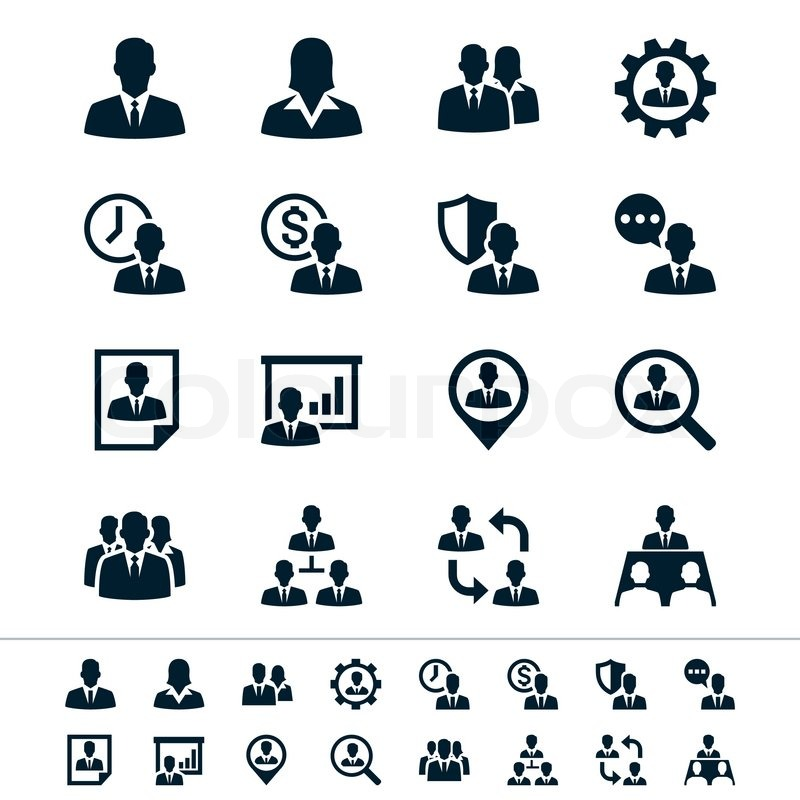 Human Resource Management Icons Stock Vector Colourbox