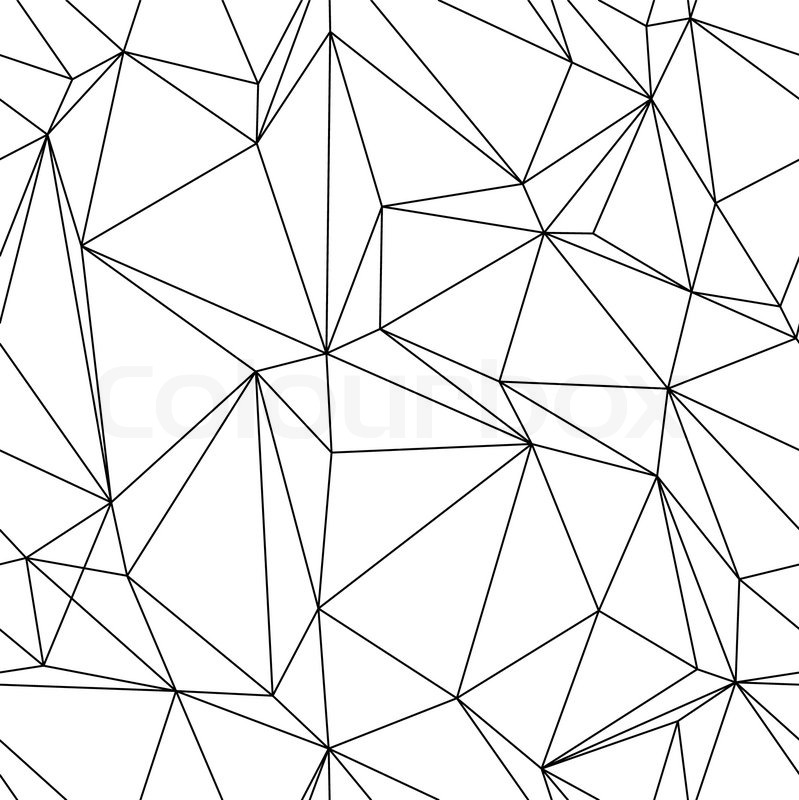 Drawing Vector Lines : Abstract seanless geometrical background with triangles