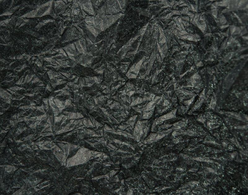 Crumpled Black Paper, stock photo