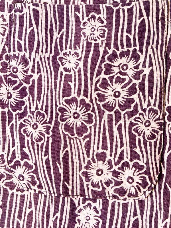 Floral green batik from Yogyakarta Indonesia  Stock Photo