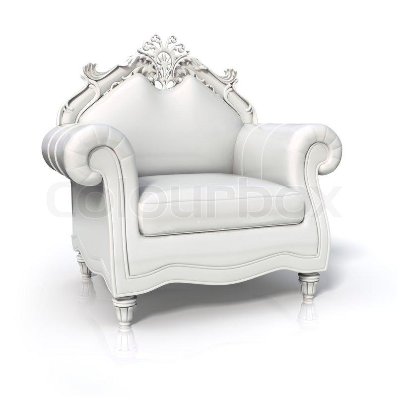 luxuri se wei e sessel stockfoto colourbox. Black Bedroom Furniture Sets. Home Design Ideas