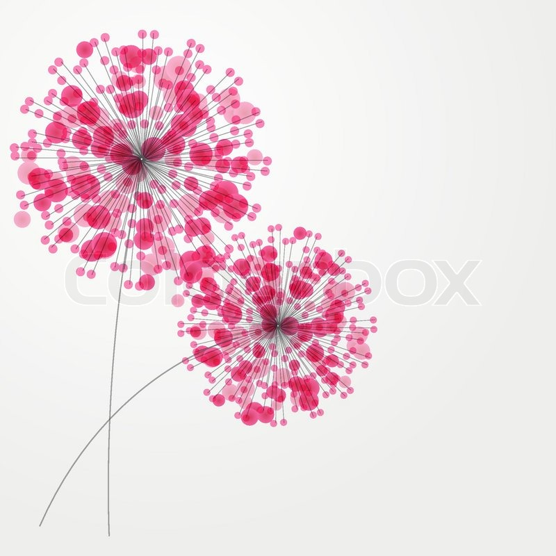 Abstract colorful background with flowers. Vector illustration, vector