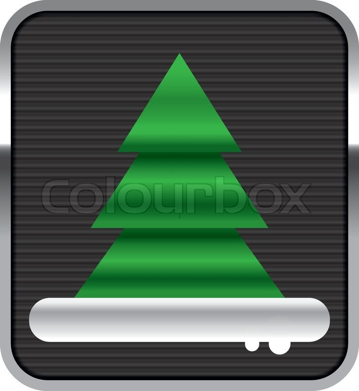Vector Modern Christmas tree design | Stock Vector | Colourbox