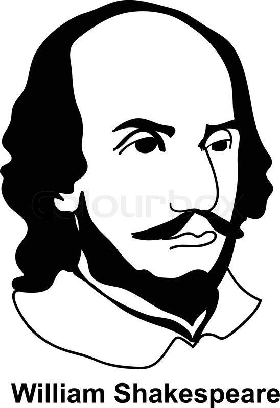 William Shakespeare vector | Vektorgrafik | Colourbox