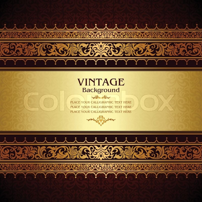 6408660 vintage background antique victorian gold ornament baroque frame beautiful old paper royal card ornate cover page label floral luxury ornamental pattern template for design - Modern Victorian Wedding Dress