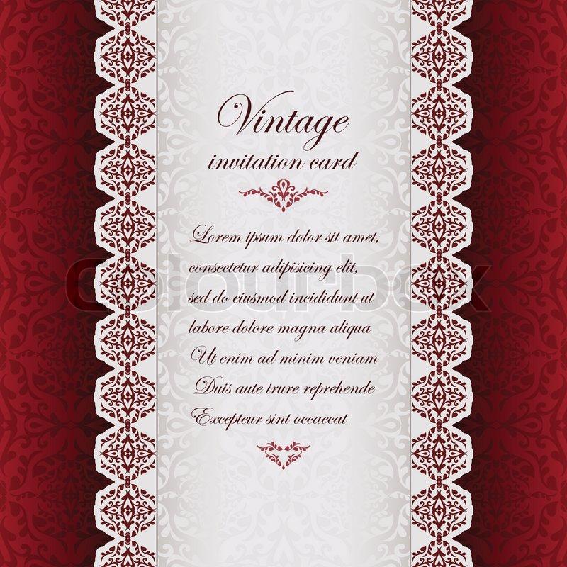 Vintage background , antike Grußkarte, Einladung mit ...