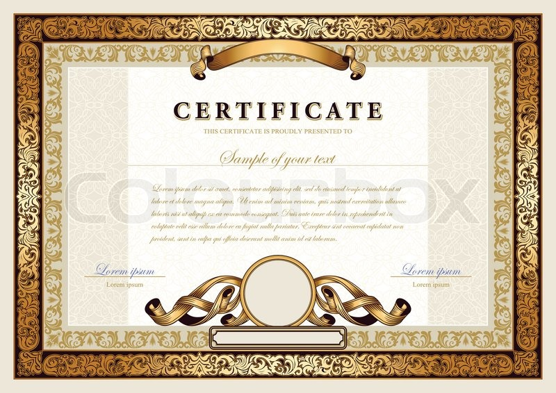Business award certificate template idealstalist business award certificate template vintage certificate with gold luxury ornamental frames coupon cheaphphosting Images