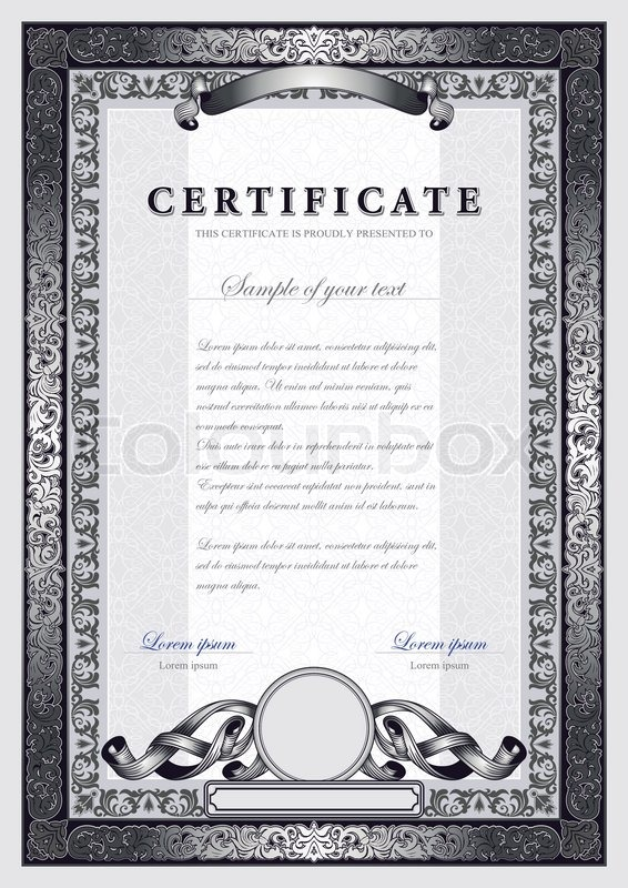 Vintage certificate with silver luxury ornamental frames coupon stock vector of vintage certificate with silver luxury ornamental frames coupon yadclub Gallery