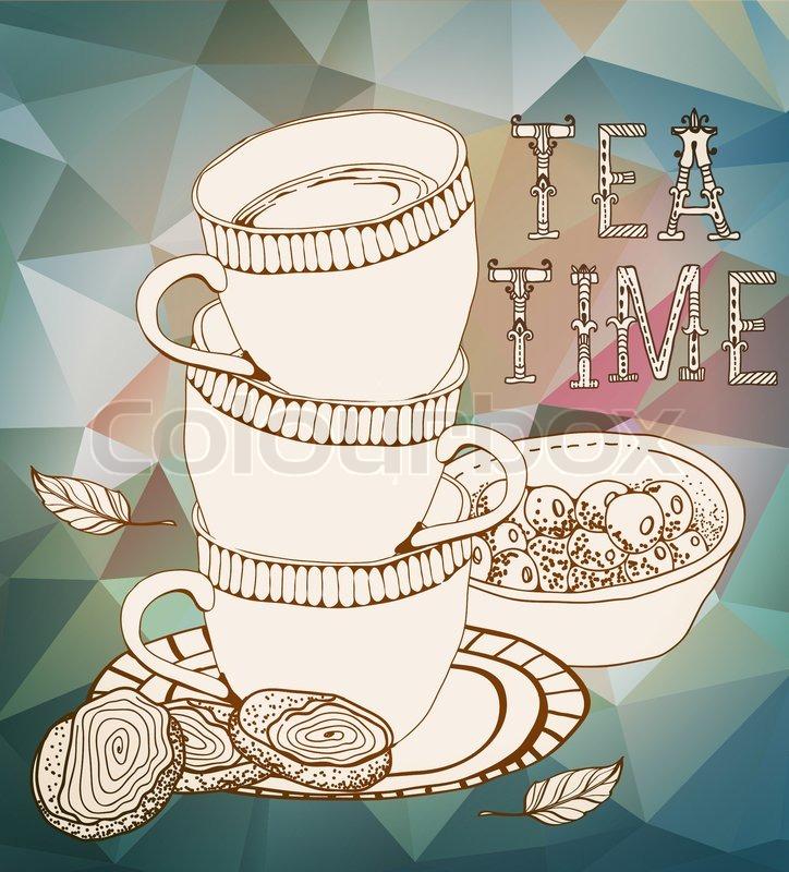 vintage tea time background stock photo colourbox. Black Bedroom Furniture Sets. Home Design Ideas