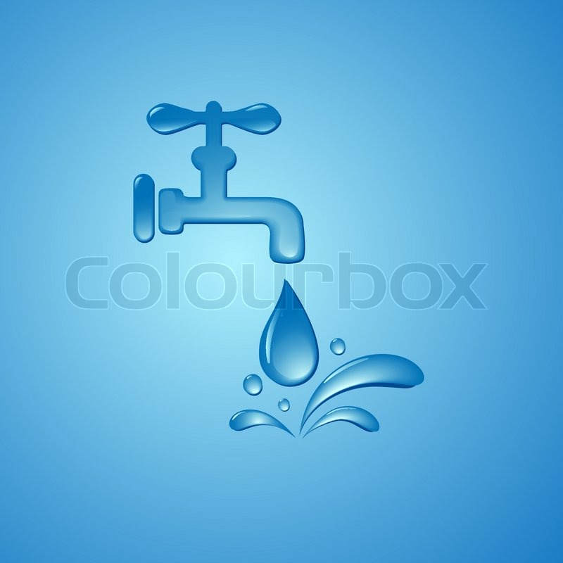 Save Water Sign Symbol Vector Background Stock