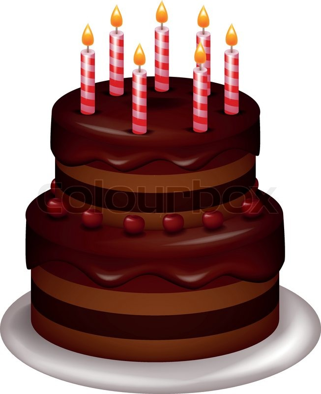 Birthday Cake Pictures Of Cartoon : Vector illustration of Birthday cake cartoon Stock ...