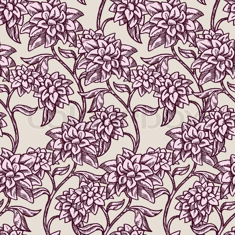 vintage floral background sch ne blumen mode nahtlose muster bunte vector wallpaper. Black Bedroom Furniture Sets. Home Design Ideas