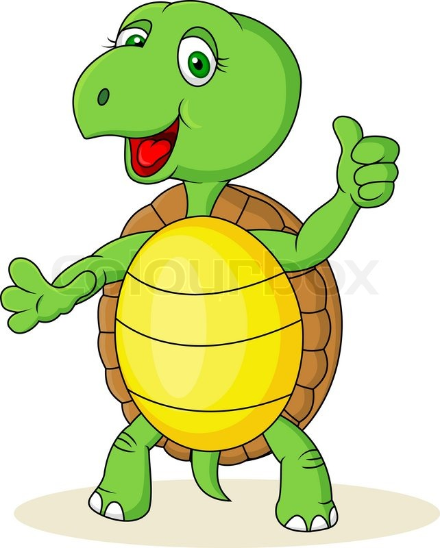 Turtle cartoon with thumb up  Stock Vector  Colourbox