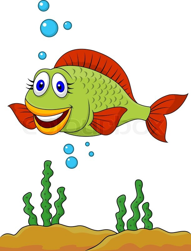 vector illustration of cute fish cartoon stock vector colourbox rh colourbox com cute fish cartoon pictures cute fish cartoon wallpaper