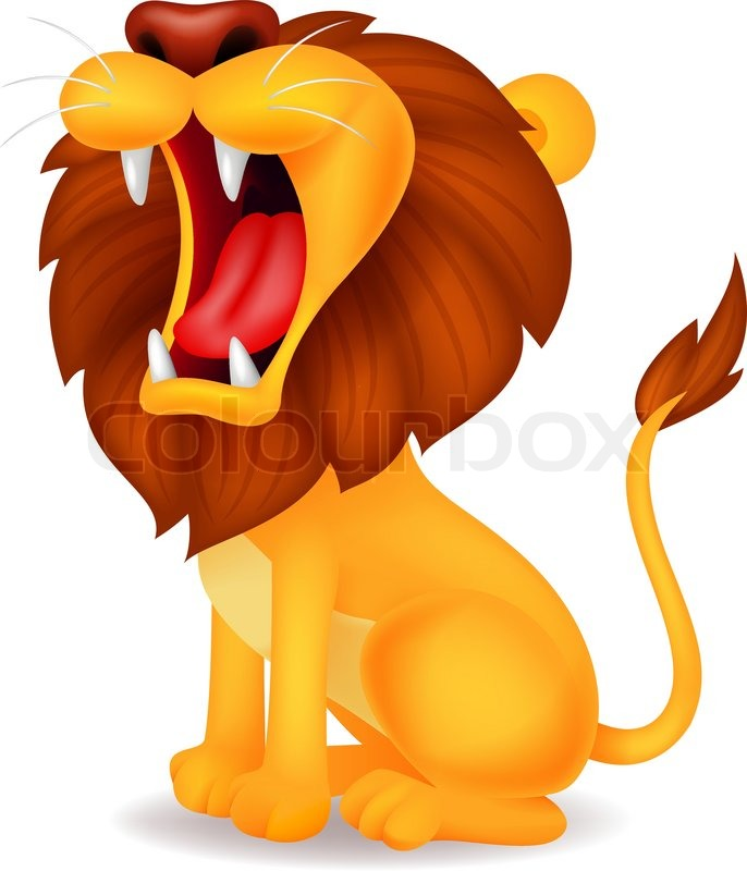 how to draw a cartoon lion roaring