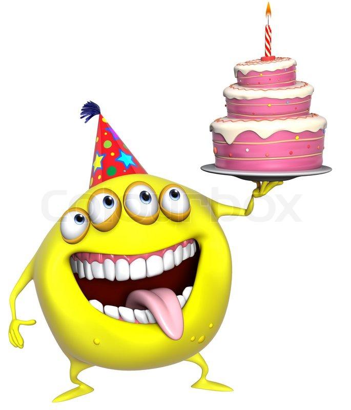 Scary Birthday Cake Cartoon