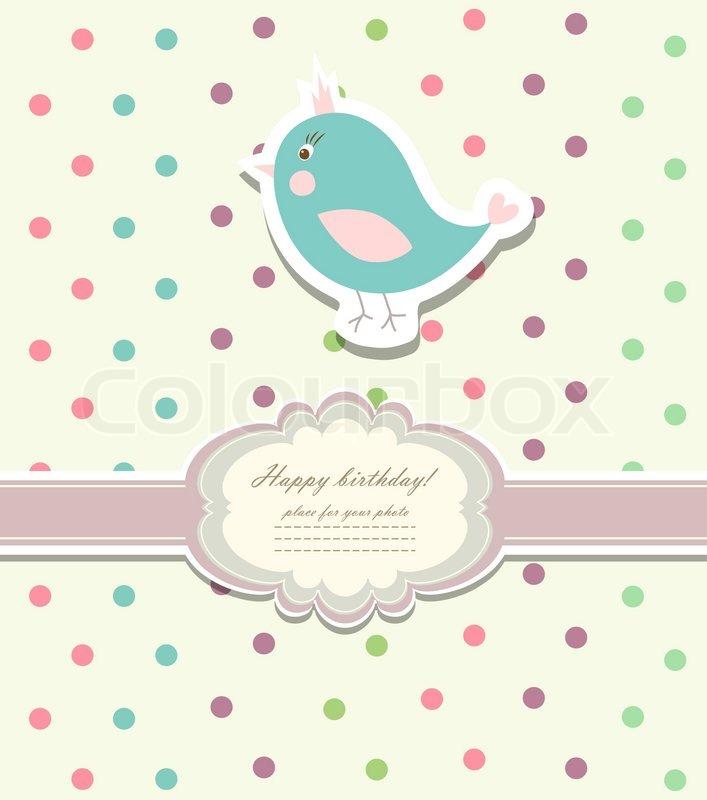 Baby-Karte für alles Gute zum Geburtstag | Vektorgrafik | Colourbox