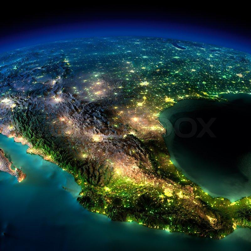 nasa night earth mexico - photo #8
