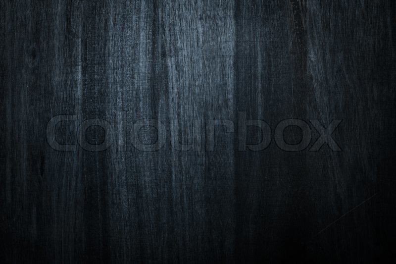 Photo Of Dark Wood Blue For Texture Or Background Stock
