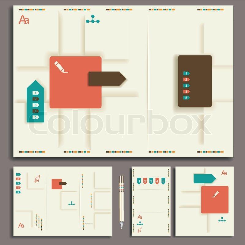 Layout Geschäft Satz Design Prospekt Ordner Karte Symbol