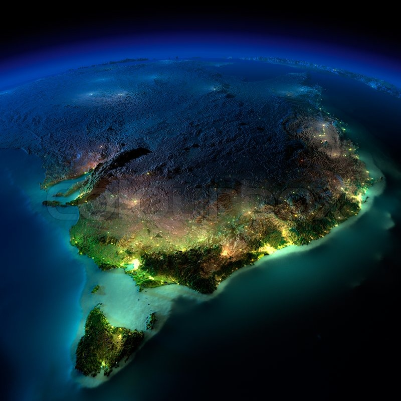Highly Detailed Earth Illuminated By Moonlight The Glow
