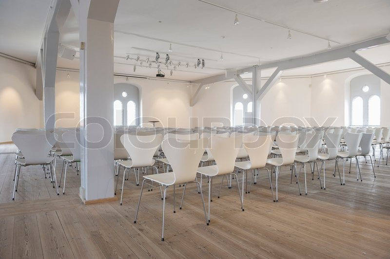 Conference Venue Or Lecture Hall With Stock Photo