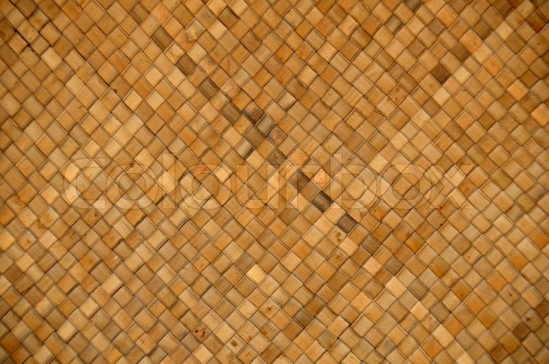 Woven Bamboo Backgrounds Stock Photo Colourbox