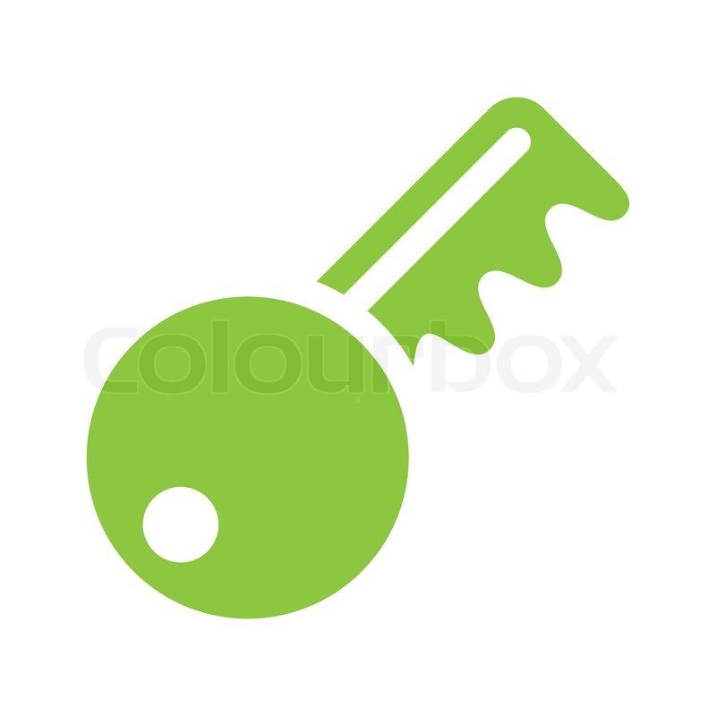 Ikon - nøgle - lys grøn | Stock vektor | Colourbox